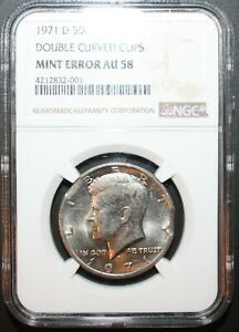 1971 D KENNEDY HALF DOLLAR ERROR COIN DOUBLE CLIPPED ERROR NGC Certified Coin!