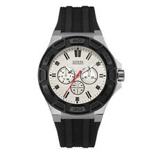 Guess Force Mens Watch Black & Silver - Wristwatch Timepiece - W0674G3