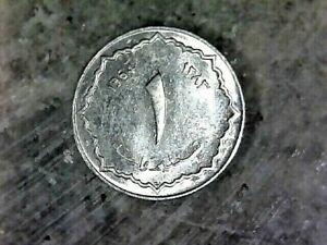 1964  ALGERIA 1 CENTIME---ALUMINUM COMPOSITION COIN  KM# 94