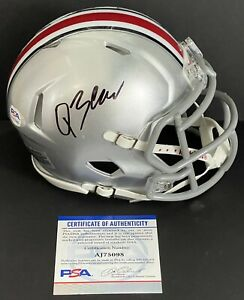 Quinn Ewers Signed Autographed Ohio State Buckeyes Mini Helmet PSA/DNA Champs