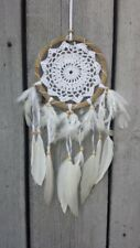 NEW HANDMADE WHITE DREAM CATCHER FEATHERS HELP SLEEP NO BAD DREAMS / dclace16