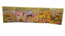 Lot Of 5 LEAPSTER 1 & 2 Games - Pet Pals; Go Diego; Princess Frog; Kai-Lan; Peng