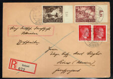 GERMANY 1943 REGISTERED COVER WITH WAR MACHINE STAMPS