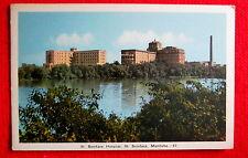 St. Boniface Hospital St. Boniface  Manitoba 1940s Postcard lsc2