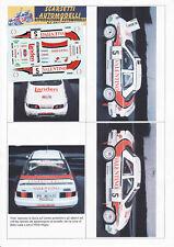 Decals 1/43e Ford Sierra Cosworth 4WD Valentino Travaglia Mille Miglia 1982