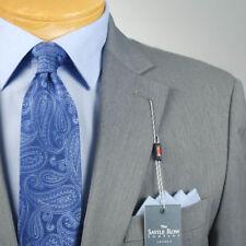 42R SAVILE ROW Solid Grey Suit - 42 Regular Mens Suits - SR02