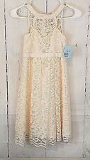 Davids Bridal Girls Lace Halter Dress Size 10 Flower Girl Wedding Party Holiday