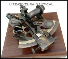 SOLID BRASS NAUTICAL SEXTANT MARINE MARITIME NAUTICAL WITH WOODEN BOX