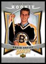 2007-08 Upper Deck MVP Rookie David Krejci Rookie #308
