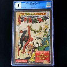 Amazing Spider-Man Annual #1 (1964) 💥 CGC 0.5 💥 1st App of SINISTER SIX! Comic