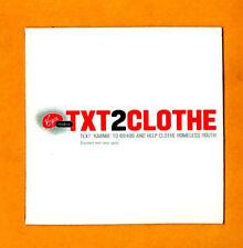 Virgin Mobile TXT2CLOTHE Campaign Souvenir Fridge Magnet HTF ~ 2¾ x 2¾-in