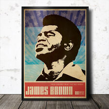 James Brown arte cartel de música funk soul jazz Nota Azul Gil Scott Heron
