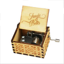 Student Souvenir Gifts Jingle Bells Lovely Song Hand Crank Music Box Carving