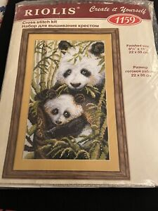 Riolis cross stitch kit - Panda with Cub 2010