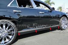 "2010-2017 Ford Taurus 8Pc Chrome Flat Lower Body Side Moulding Trim 1.5"""