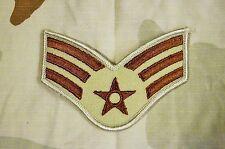 Military Patch US Air Force Desert Tan Color Senior Airman SrA Rank
