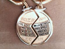 Gold filled Mizpah keychain 130078