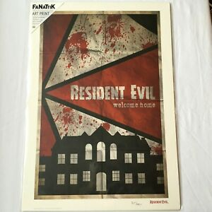 """Resident Evil Lithograph Art print Numbered Collector Official """"NEW"""" SEALED COA"""