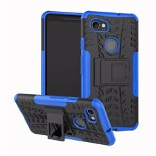 Heavy Duty ShockProof Kick Stand Case Builder Cover for Google Pixel 2 (Blue)