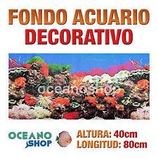 FONDO 80x40cm ACUARIO DECORATIVO VINILO CORAL CALIDAD D427