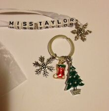 Personalised Christmas Keyring gift - Teacher , TA, Head, classroom assistant,