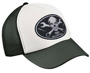Hellmotors Skull & Wrench Trucker Baseball Cap Hotrod V8 Biker Oldschool Kappe