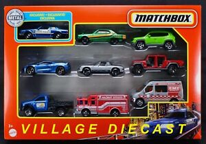 2021 Matchbox 9-Pack w/Exclusive '93 Mustang / Nissan Skyline with HARNESS / MIB