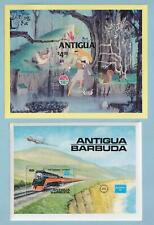 ANTIGUA ANGUILLA  COLLECTION OF 10 SOUVENIR SHEETS  MINT NEVER HINGED OG ** X874