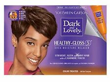 Dark and Lovely No-Lye Relaxer, For Color Treated Hair 1 kit (Pack of 4)