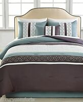Hallmart Collectibles Mercer 5 Piece Queen Embroidered Comforter Set o1078