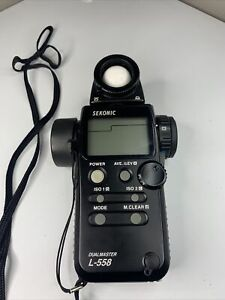 Used Sekonic L-558 Dual Master Digital Light Meter Brand New Battery