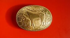 Vintage  Western Bronze Crumrine Belt Buckle