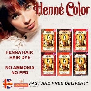 Henna Hair Dye Colour Henne Color 100g AUBURN/BLACK/BROWN/COPPER/MAHOGANY