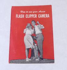 ANSCO Flash Clipper Camera Guide Magazine Photography Book Brochure
