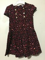 Hartstrings Cotton Blend Size 6 Floral Heart Design Dress Girls Kids