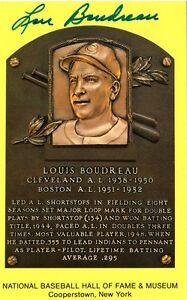Lou Boudreau Cleveland Indians Boston Red Sox Signed HOF Plaque Autograph
