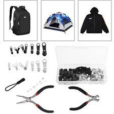 197Pcs Zipper Repair Tool Kit Metal Zips for Clothing Bags Purses