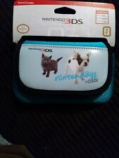 "Nintendo 3ds ""nintendogs + cats"" Game Traveler case, Teal color"