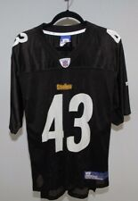 Steelers Polamalu NFL Jersey Reebok Men Sz M Black (EUC)