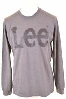 LEE Mens Graphic Top Long Sleeve XL Grey Cotton  HV01