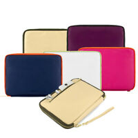 """7"""" Leather Padded Zipper Tablet Sleeve Cover For Samsung Galaxy Tab A / Tab E"""