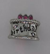 Pugster Bracelet Charm Happy Birthday Cake B-day Crystal Beads Bracelets NEW