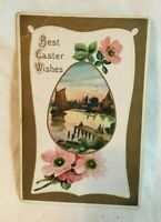 * 1911 Embossed Easter Postcard BEST EASTER WISHES