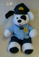 BUILD A BEAR POLICE DEPT WHITE PLUSH TOY DOG- PATCH- B-A-B WORKSHOP-7/15 CLOTHS9