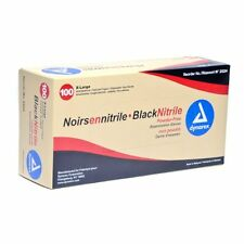 Dynarex Black Nitrile Exam Gloves, Heavy-Duty, Powder Free, XL, Box/100 NEW