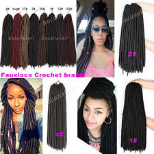"18"" Faux locs 24-120strands Crochet Braids Synthetic Hair Dreadlocks 100-500gram"