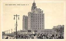 Coney Island New York c1927 Postcard Half Moon Hotel