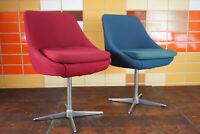70er Chrom Drehstuhl Schreibtisch Stuhl Club Sessel Loungesessel Space Age 1/5