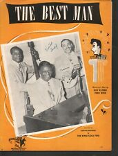The Best Man 1946 The King Cole Trio Sheet Music