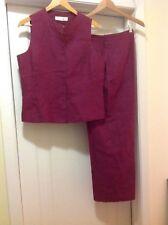 Jones New York Linen Vest Pant Suit Size 10